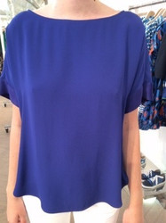 Tara Jarmon Blue Short Sleeve Blouse