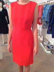 Tara Jarmon Red Sleeveless Dress