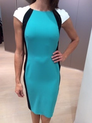 Clips Teal Knee Length Dress