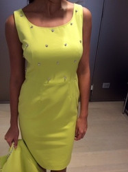 Clips Yellow Sleeveless Dress