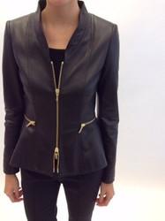 Rena Lange Black Zippered Jacket