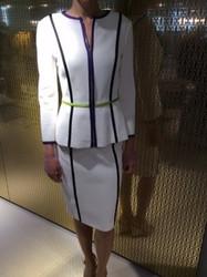 Escada White Jacket and Skirt