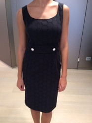 Clips Black Sleeveless Dress