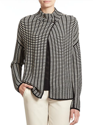Armani Collezioni Geometric Knit Cardigan