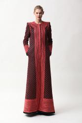 Naeem Khan Lattice Work Embroidered Floor-Length Coat