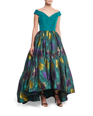 Christian Siriano Off-The-Shoulder Ball Gown