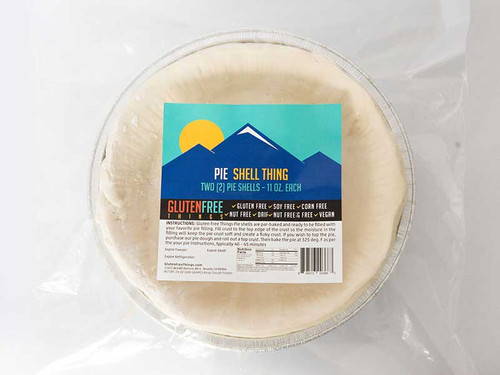 "Gluten Free Things brand pie crust is made in a dedicated gluten free bakery.   Keep a package of two in your freezer for anytime, impromptu desserts. Two 9"" deep dish gluten-free vegan Pie Shells are par-baked and ready to be filled with your favorite pie filling."