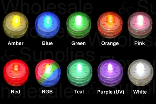Box of 50 Acolyte Submersible Floralytes, Battery LED Submersible Underwater  Tea Lights  Wholesale Case of 50pcs