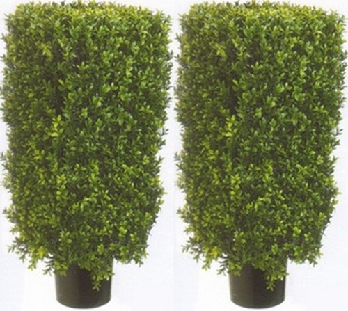 Artificial boxwood shrubs topiary with lights