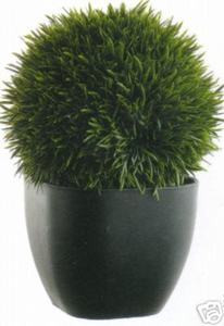 One 11 inch Artificial Tea Leaf Topiary Grass Ball