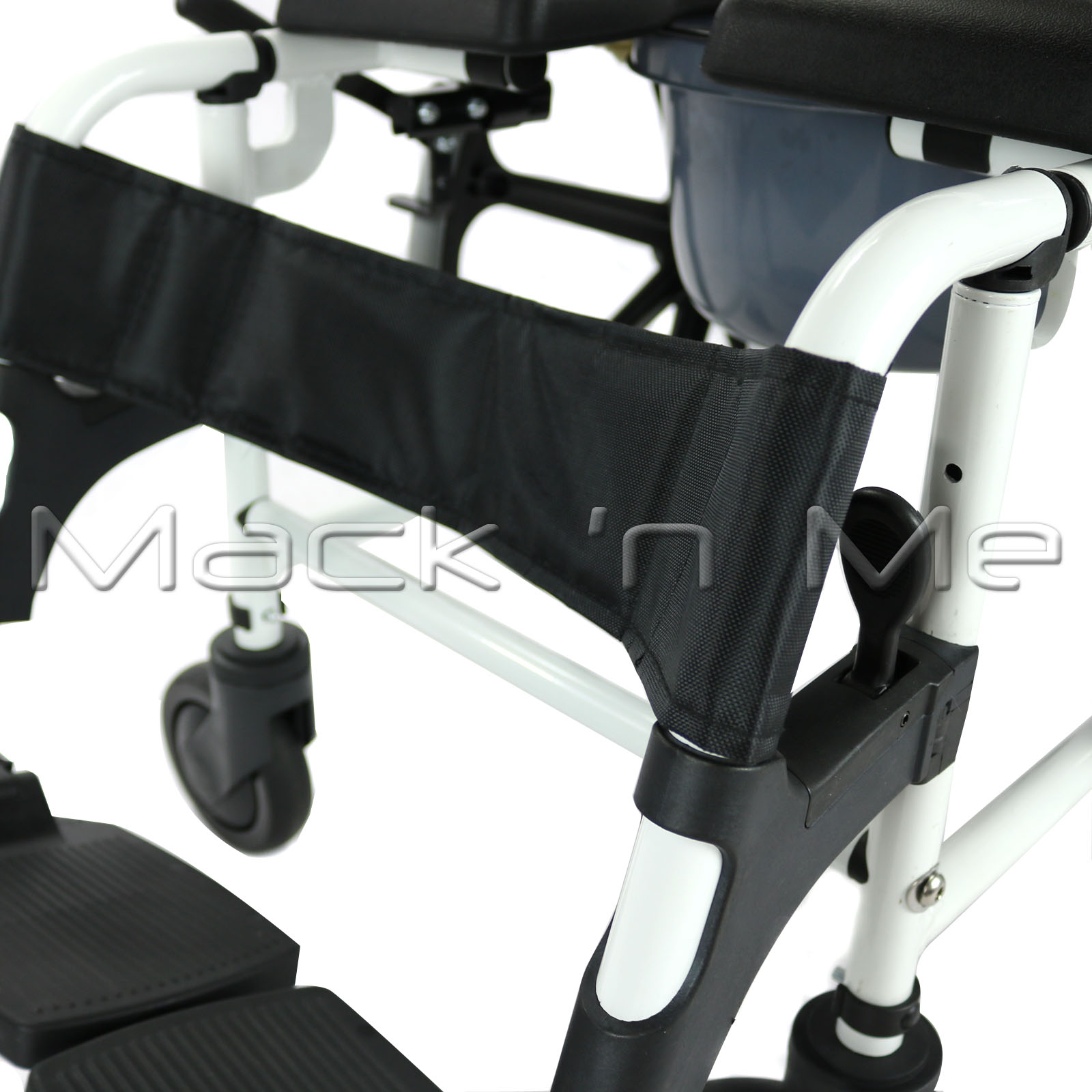Self-Propelled Shower Chair Commode Aluminium Fold-up Footrest ...