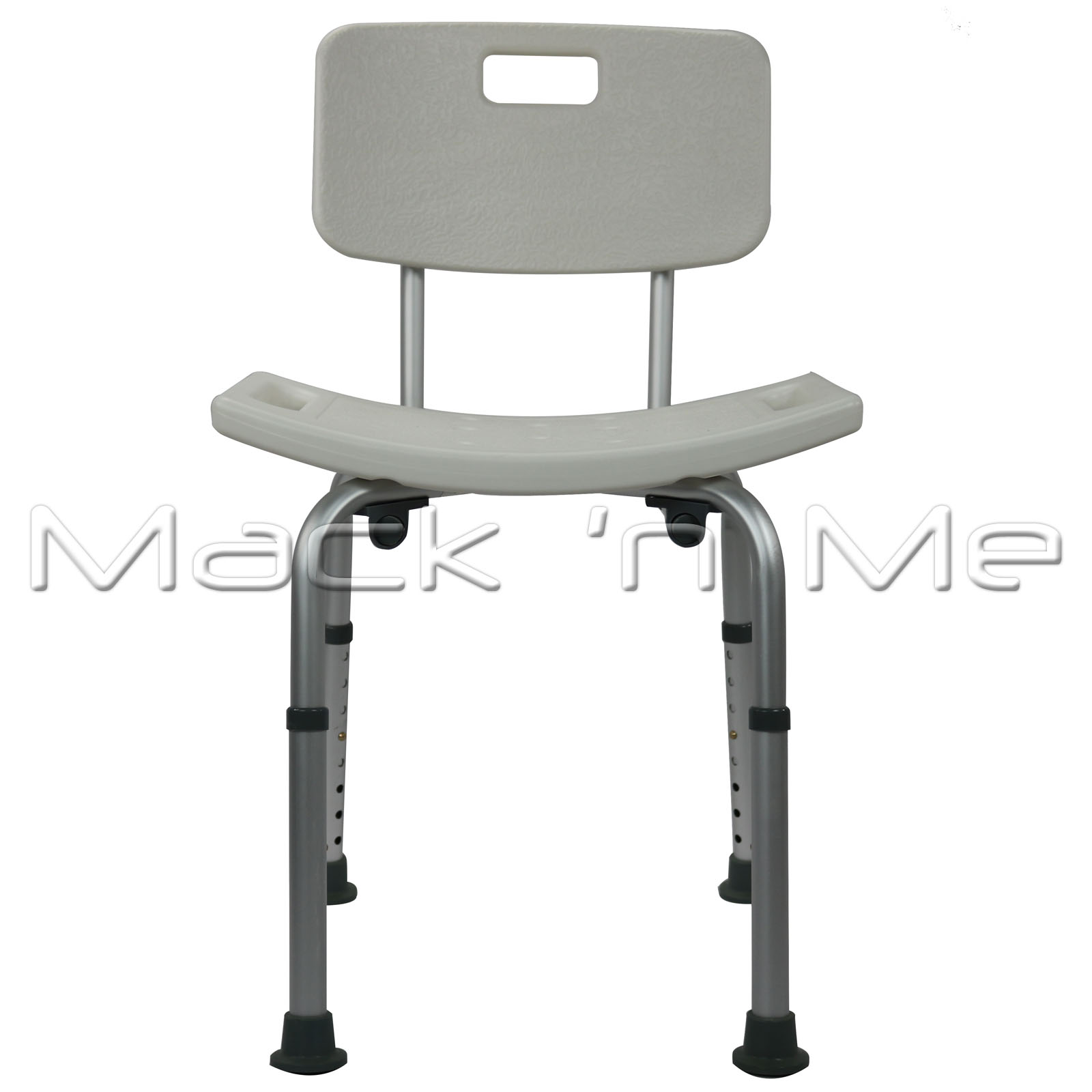 Shower Chair Seat Stool Curved Bath Aluminium With Height Adjustable ...