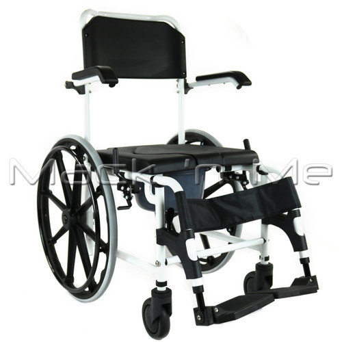 self propelled commode shower chair mack n me