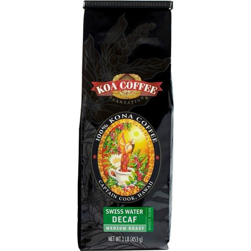 Swiss Water Decaf Whole Bean 100% Kona Coffee