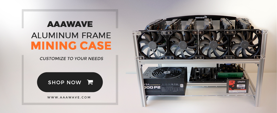 AAAWAVE Minin Rig, minig frame, mining stand, mining case, with fan and power suplly
