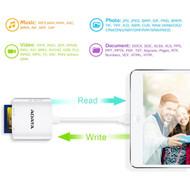 Adata ALRAI910CWH MFi Certified Lightning Card Reader/Writer Plus