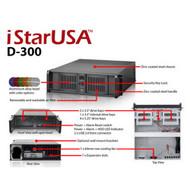iStarUSA D-300 3U Compact Stylish Rackmount Chassis
