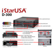 iStarUSA D-300-SILVER 3U Compact Stylish Rackmount Chassis Silver