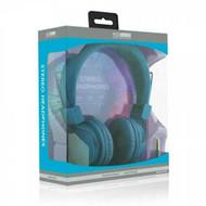 ECO ECO-V20-12245 V20 Stereo Headphones w/ In-line Mic - Blue