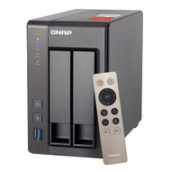 Qnap TS-251+-2G-US 2-Bay Next Gen Personal Cloud NAS Intel 2.0GHz Quad-Core CPU with Media Transcoding
