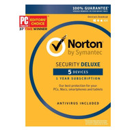 Norton Security Deluxe 2016 5 Devices 1 Year Anti-virus PC/Mac/Android/iOS New