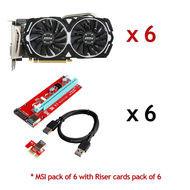 MSI GAMING Radeon 8GB Graphics Card RX 470 ARMOR 8G OC Mining Bitcoin - Lot of 6