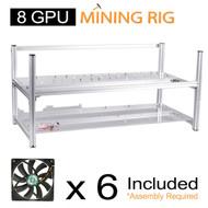 AAAwave Mining Case 8 GPU+ 6 x FAN SCYTHE SY1225DB12H Stream 120DB 120mm Case Fan 1600 RPMTIC …