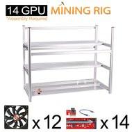 AAAwave Mining Case 14 GPU+FAN SCYTHE SY1225DB12SH Stream 120DB 120 mm Case Fan 1900 RPM x 12 + PCI riser x 14 …