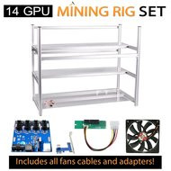 AAAwave Mining Case 14 GPU+FAN SCYTHE 1900x 12+Dual power supply rig - cables &adapters …