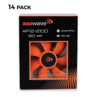 Set of 14 - AAAwave 120mm Double ball bearing Silent Cooling Fan, CPU Cooler, Water-Cooling Radiator and Case