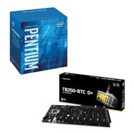 Special bundle - Biostar TB250BTC D+ 8 GPU LGA 1151 Intel B250 DDR4 Mining Motherboard + Intel BX80677G4560 Pentium G4560 Series 3.50 GHz Dual-Core LGA 1151 Processor