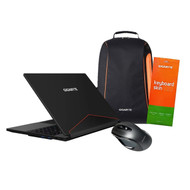 "Gigabyte Aero 15W v8-BK4 Bundle 15"" Ultra Slim Gaming Laptop + Gigabyte GM-M6800 Dual Lens Gaming Mouse + Aero keyboard skin + Gigabyte Gaming Backpack"