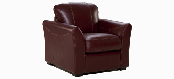 Jaymar Bellini Chair available in leather, fabric, or microfiber.