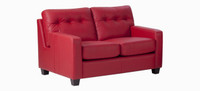 Jaymar Todd Loveseat is available in high quality leather, fabric, or microfiber.
