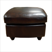 Luke Leather Bentley Ottoman