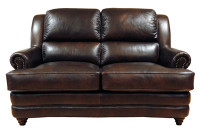 Luke Leather Bentley Loveseat