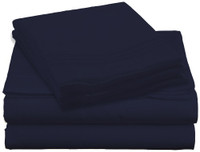 Design Center West Sheets That Breathe - Navy available in Twin, Full, Queen, and King sizes!