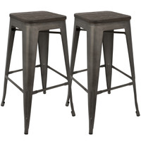 Lumisource | Oregon Barstool - Set of 2 | BS