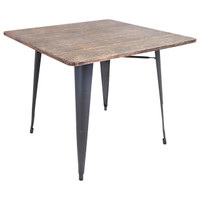 Lumisource | Oregon Dining Table | DT-TW-ORTB SQ