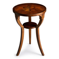 Butler Specialty Furniture | Dalton Olive Ash Burl Round Accent Table | Bs1328101
