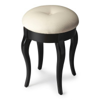 Butler Specialty Furniture | Simone Black Licorice Vanity Stool | Bs2135111
