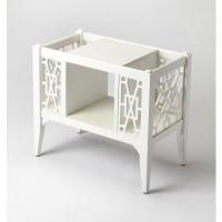 Butler Specialty Furniture | Chippendale Cottage White Magazine Basket | Bs5002222