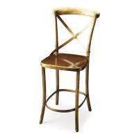 Butler Specialty Furniture | Bennington Antique Gold Bar Stool | Bs3432330