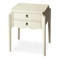 Butler Specialty Furniture | Wilshire Glossy White Accent Table | Bs7016304