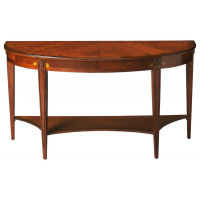 Butler Specialty Furniture | Astor Olive Ash Burl Demilune Console Table | Bs4146101