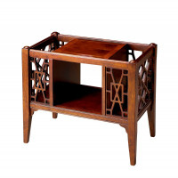 Butler Specialty Furniture   Chippendale Plantation Cherry Magazine Basket   Bs5002024