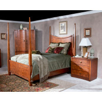 Butler Specialty Furniture | Millennium Park Chestnut Burl California King Poster Bed | Bs9093108