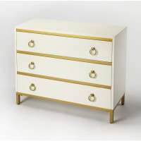 Butler Specialty Furniture   Monika White & Gold Accent Chest   Bs9334222