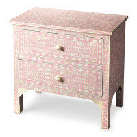 Butler Specialty Furniture | Vivienne Pink Bone Inlay Accent Chest | Bs3224070
