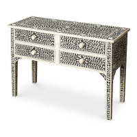 Butler Specialty Furniture | Vivienne Black Bone Inlay Console Table | Bs1860070